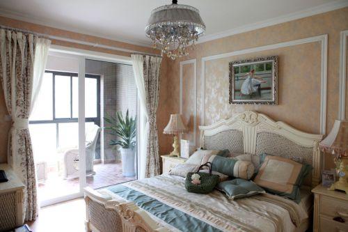 卧室简欧风格豪华大床效果图设计