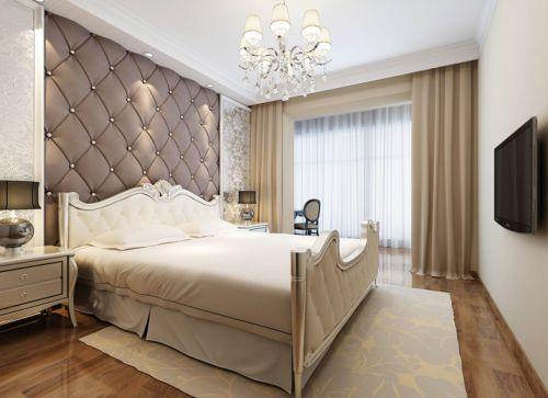 简欧风格四居室卧室背景墙装修效果图大全