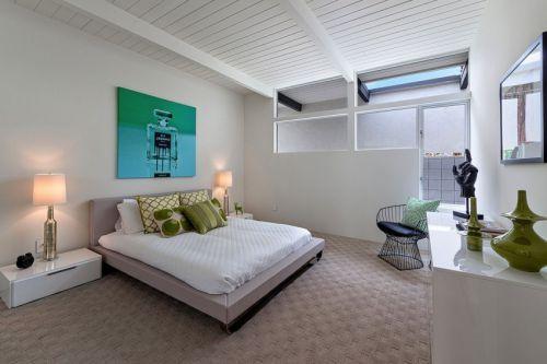 清新雅致简欧风格卧室吊顶装修效果图