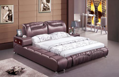 简欧紫色大户型卧室床头柜效果图