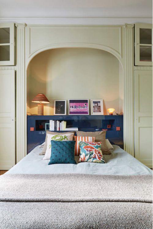 简欧风格创意卧室背景墙装修设计图