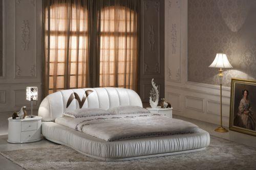 白色简欧风格卧室床头柜效果图
