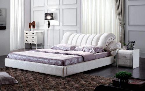 白色简欧风格三居室卧室床头柜效果图