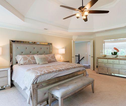 白色简欧风格轻奢主义卧室装修效果图