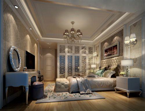 简欧风格三居室卧室梳妆台装修效果图大全