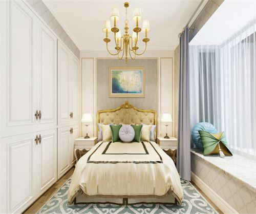 简欧风格二居室卧室飘窗装修效果图大全