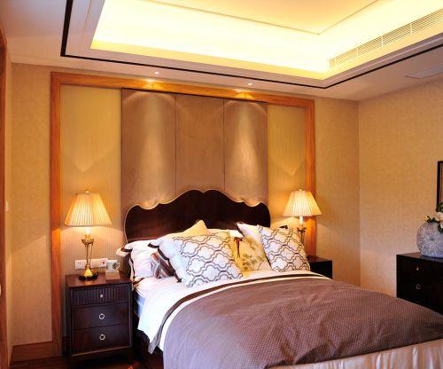 简欧风格四居室卧室床装修图片