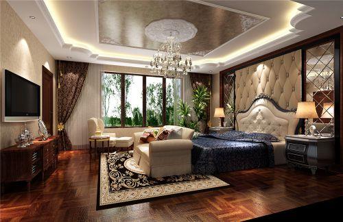 简欧风格别墅卧室背景墙装修效果图欣赏