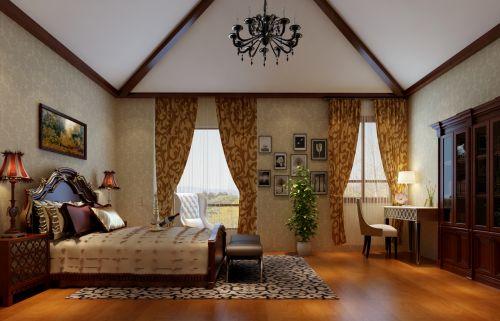 简欧风格别墅卧室装修效果图欣赏