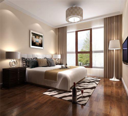 简欧风格二居室卧室床装修图片