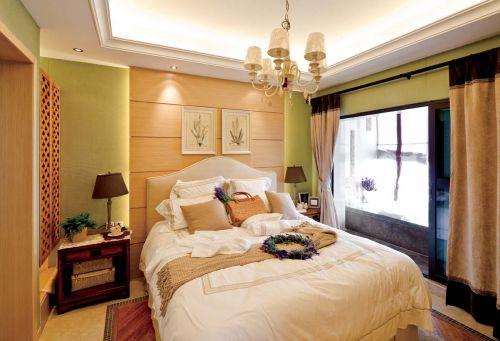 静谧简欧风格别墅卧室装修设计