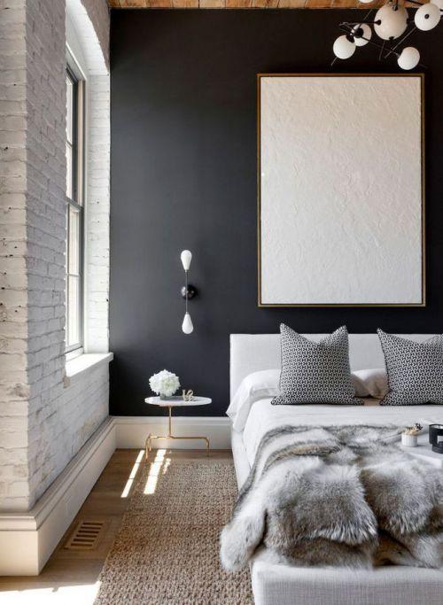 白色简欧风格大阁楼卧室床效果图