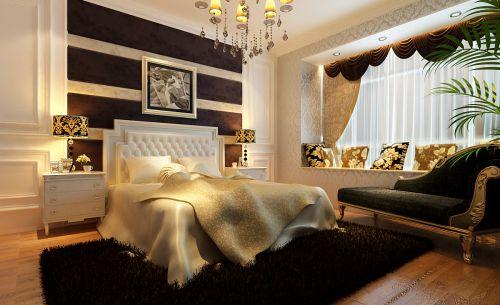 简欧风格二居室卧室装修图片欣赏