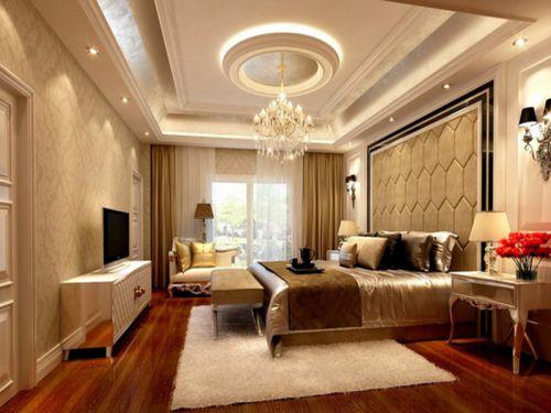 简欧风格四居室卧室吊顶装修效果图大全