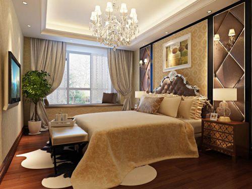 简欧风格五居室卧室吧台装修图片