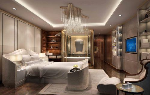 白色典雅温馨简欧风格卧室效果图