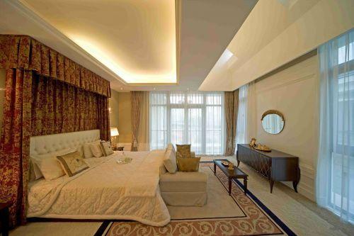 低调华丽简欧风格卧室效果图