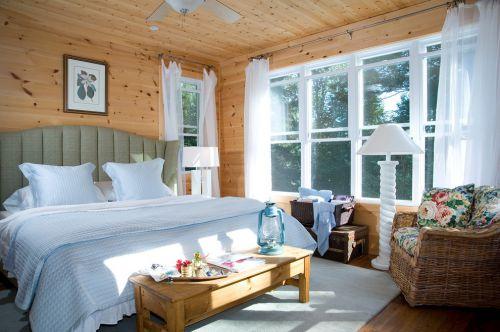 简欧风格明亮原木色卧室装修效果图