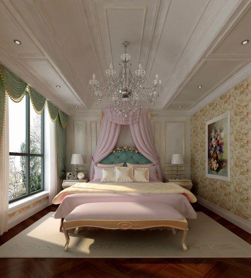 简欧风格四居室卧室梳妆台灯具装修效果图欣赏