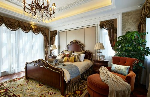 简欧风格沉稳大气卧室装修设计