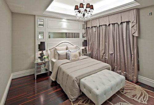清新脱俗简欧风格卧室装修效果图