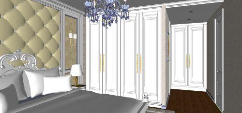 简欧风格三居室卧室装修图片