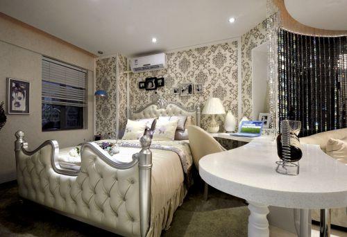 白色典雅浪漫简欧风格卧室效果图