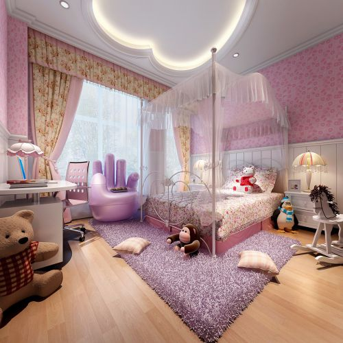 简欧风格六居室卧室吊顶装修效果图欣赏