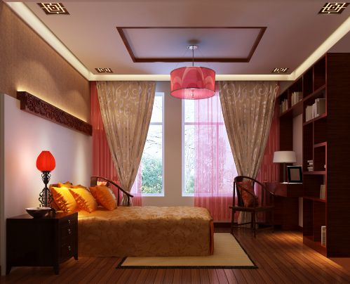 简欧风格三居室卧室装修效果图大全
