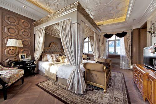 简欧风格富贵高雅卧室效果图