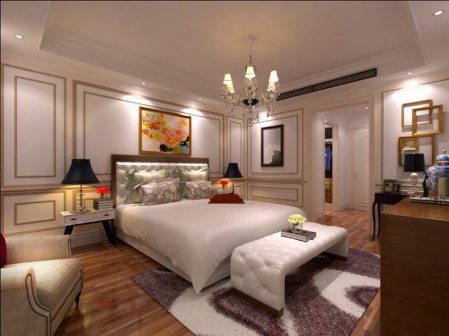 简欧风格四居室卧室照片墙装修效果图