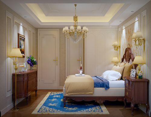 简欧风格三居室卧室楼梯装修图片