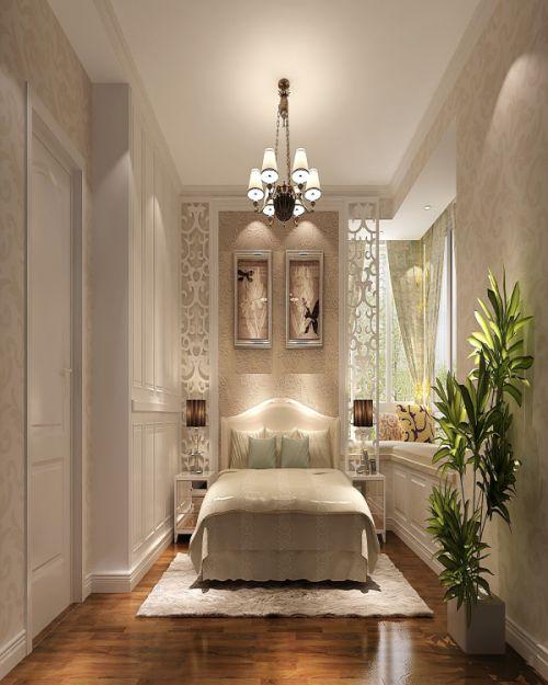 简欧风格三居室卧室照片墙装修效果图