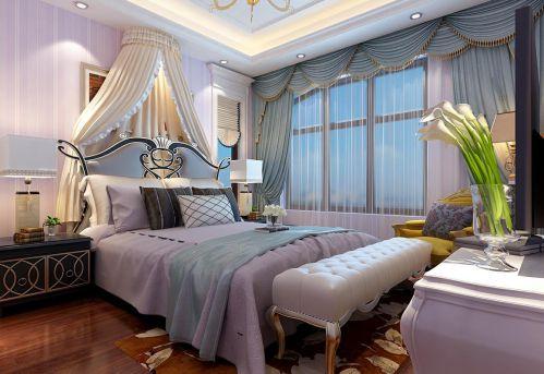 简欧风格六居室卧室床装修效果图大全