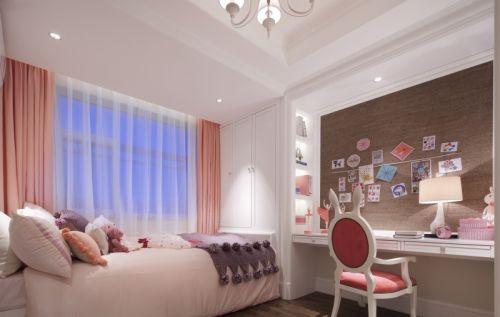 简欧风格二居室卧室灯具装修效果图大全