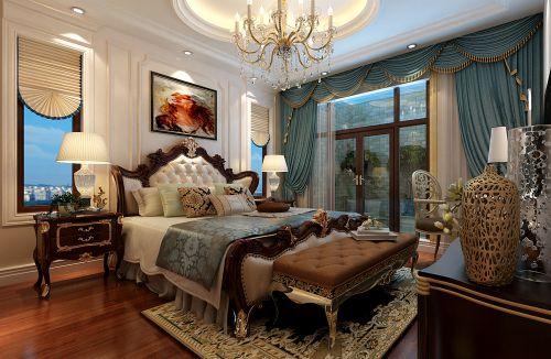 简欧风格六居室卧室床装修图片