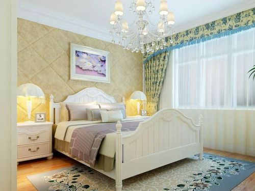 简欧风格三居室卧室装修图片欣赏
