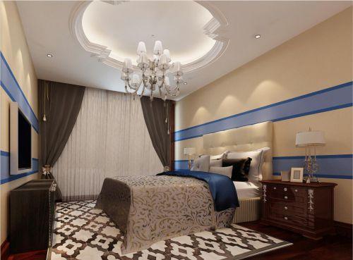 简欧风格五居室卧室照片墙装修效果图欣赏