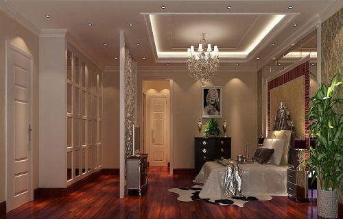 简欧风格三居室卧室照片墙装修效果图欣赏