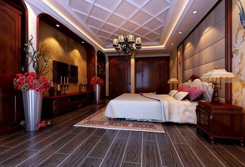 简欧风格四居室卧室吊顶装修效果图欣赏