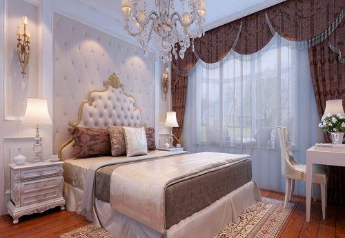 简欧风格二居室卧室床装修效果图大全