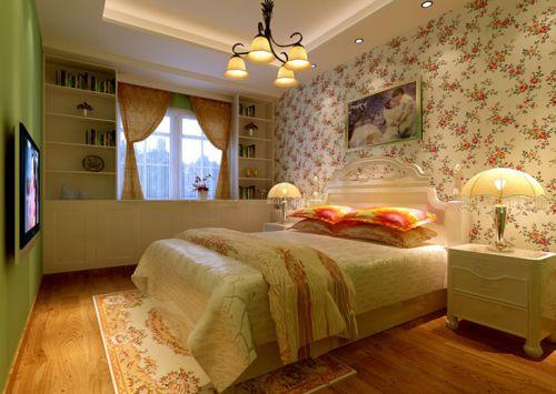 简欧风格三居室卧室照片墙装修效果图大全
