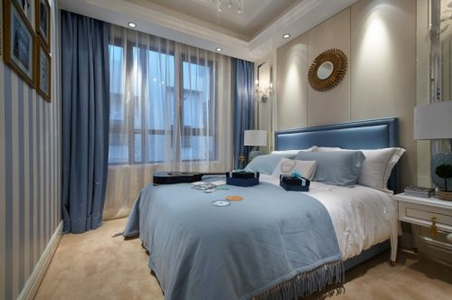 简欧风格二居室卧室床头柜装修效果图欣赏