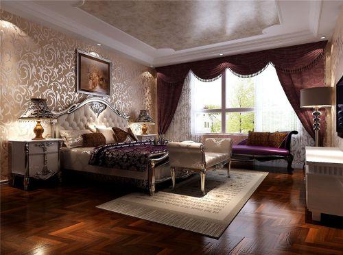 简欧风格复式卧室组合柜装修效果图大全