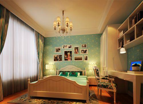 简欧风格四居室卧室婴儿床装修图片