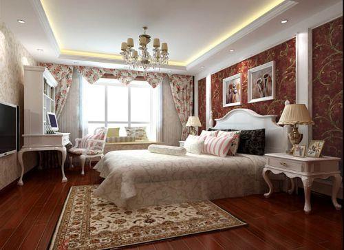简欧风格三居室卧室榻榻米装修效果图大全
