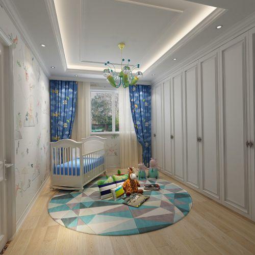 简欧风格四居室卧室窗帘装修效果图欣赏
