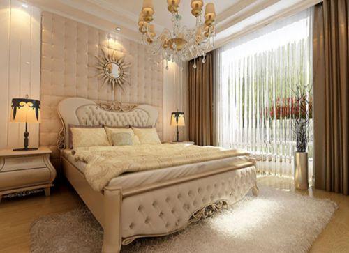 简欧风格二居室卧室梳妆台装修效果图欣赏