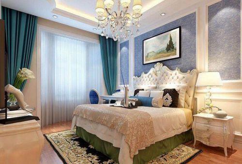 简欧风格二居室卧室床头柜装修图片