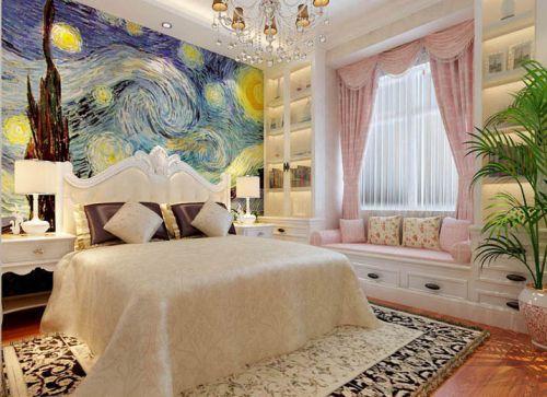 简欧风格三居室卧室榻榻米装修效果图